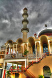Buitenmening aan Keizerstraat-moskee, Paramaribo, Suriname Stock Foto's