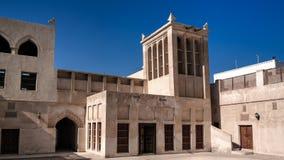 Buitenmening aan Sheikh Isa Bin Ali Al Khalifa-huis en moskee, Manama, Bahrein royalty-vrije stock afbeelding