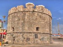 Buitenmening aan Venetiaanse Toren in Durres, Albanië royalty-vrije stock fotografie