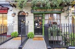 Buitenmening van beroemd Sherlock Holmes Museum, Londen, royalty-vrije stock foto's