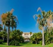 Buitenmening van de beroemde Villa Massena stock fotografie