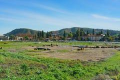 Buitenmening van een landbouwbedrijf van Cal Poly Pomona royalty-vrije stock afbeelding