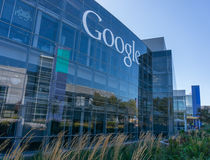 Buitenmening van Google-bureau Stock Foto's