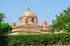 Buitenmening van het Paleis van Umaid Bhawan van Rajasthan Royalty-vrije Stock Foto's