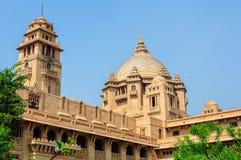 Buitenmening van het Paleis van Umaid Bhawan van Rajasthan Stock Foto's