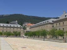 Buitenmening van het prachtige architectuurwerk Gr Escorial in de stad van Madrid Royalty-vrije Stock Fotografie