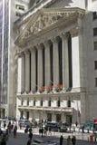 Buitenmening van New York Stock Exchange op Wall Street, de Stad van New York, New York Stock Foto's