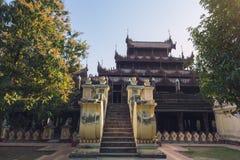 Buitenmening van Shwe in Bakklooster royalty-vrije stock foto's