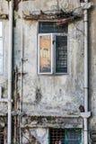 Buitenmuur van een oud gebouw in Hong Kong Stock Fotografie