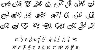 Buitensporig alfabet Royalty-vrije Stock Afbeeldingen