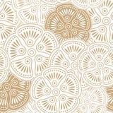 Buitensporig naadloos bloemenbehang Royalty-vrije Stock Afbeeldingen