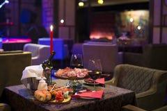 Buitensporig Restaurantdiner royalty-vrije stock foto