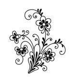 Buitensporige bloem stock illustratie