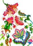 Buitensporige bloemen Vector Illustratie