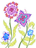 Buitensporige Bloemen Stock Foto