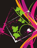 Buitensporige bloemenachtergrond vector illustratie