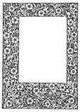 Buitensporige bloemenfilagreeframe vectorillustratie Royalty-vrije Stock Afbeelding
