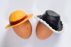 Buitensporige eieren Stock Afbeelding