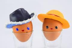 Buitensporige eieren Stock Foto