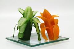 Buitensporige fruit en groenten Royalty-vrije Stock Afbeeldingen