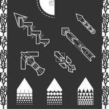 Buitensporige Geplaatste Pijlen Royalty-vrije Stock Afbeelding