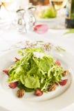 Buitensporige gezonde salade op een witte plaat. Royalty-vrije Stock Fotografie