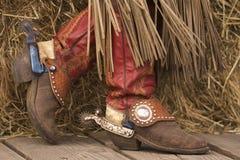 Buitensporige Laarzen Stock Fotografie