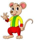 Buitensporige Muis die het golft hand Stock Foto's