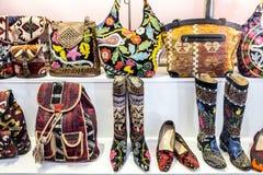 Buitensporige schoenen en zakken Stock Fotografie