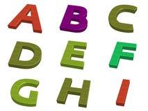 Buitensporige typografie A-I Stock Foto
