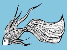 Buitensporige Vissen royalty-vrije illustratie