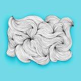 Buitensporige wolk gemaakt tot lijnen, vectorvoorwerp Stock Foto