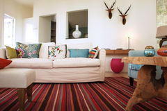 Buitensporige woonkamer Stock Foto
