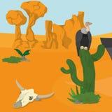 Buitres en desierto Imagen de archivo