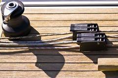 Bujão, cordas & guincho Imagens de Stock