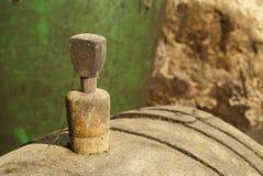 Bujão velho do tambor de vinho Imagem de Stock Royalty Free