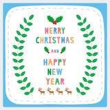Bujía métrica y HNY card17 de saludo Fotografía de archivo libre de regalías