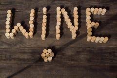 Bujões 2 do vinho imagem de stock