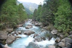 bujaruelo谷的河 图库摄影