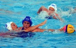 BUJKA Barbara (HUN, 10) fighting for the ball against GENEE Dagmar Rixt (NED 3) Stock Images