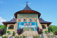 Orthodox church - Monastery Bujoreni - landmark attraction in Vaslui County, Romania. Orthodox church. New church from Bujoreni Monastery - landmark attraction royalty free stock photo