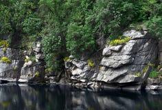Buk峡谷在乌克兰在早期的春天 免版税库存照片