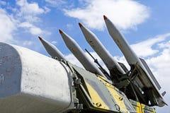 Buk防空导弹系统的自走导弹发射装置9A310 免版税库存照片