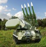 Buk Овод SA-11 Русское самоходное, ракетный комплекс средств-ряда земл Стоковые Фото