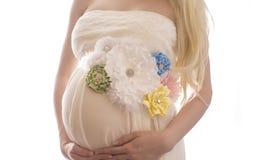 Buk för Nant kvinna` s med den färgrika buksjalen Royaltyfria Foton