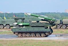 Buk-M导弹发射装置 免版税图库摄影
