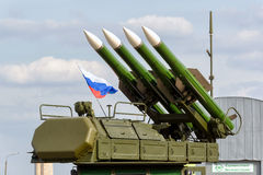 The Buk-M2 russian missile system Stock Image