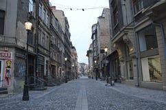 Bukarest - alte Stadtstraße Lizenzfreies Stockfoto