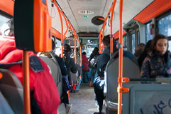 Bukarest-Busse Lizenzfreie Stockfotografie