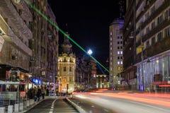 Bukarest - Calea Victoriei Stockfoto